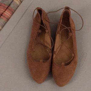 Lucky Brand Brown Suede Flats